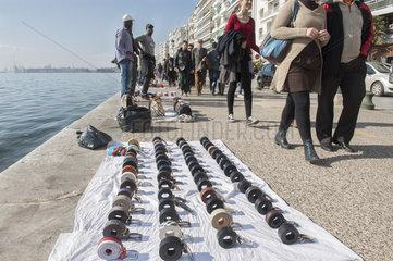 Strassenszene auf der Alten Promenade von Thessaloniki