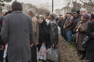 Kundgebung griechischer Rueckkehrer aus Albanien und aus ehemaligen sowjetischen Republiken