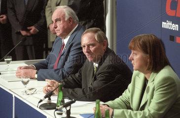 Kohl + Schaeuble + Merkel