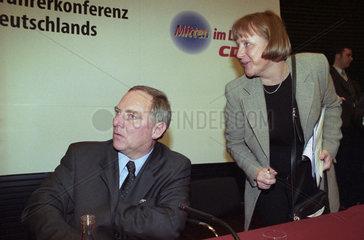 Schaeuble + Merkel