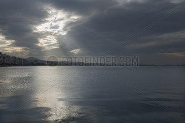 Die Stadt Thessaloniki am Thermaischen Golf