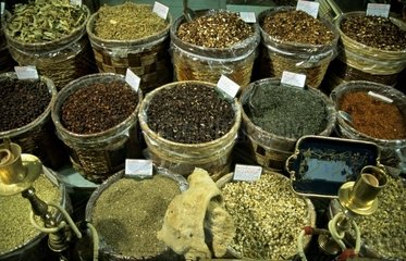 Turkey  10.10.2005: Spices on a Market in Marmaris