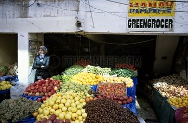 Turkey  10.10.2005: Fruit Market in Marmaris