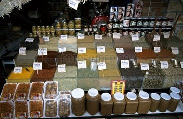 Turkey  10.10.2005: Spices on the Mamrket of Fethiye