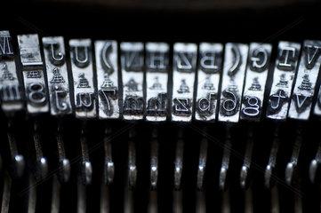 Typen einer Schreibmaschine