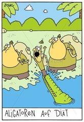 Alligatoren auf Diaet
