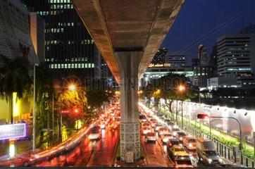 Nachtverkehr in Bangkok  Asien