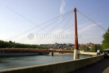 Bruecke Passerelle du Palais de Justice  Fluss Saone  Lyon  Rhone-Alpes  Frankreich