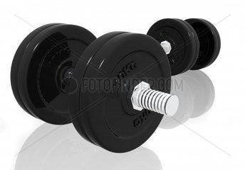free weights isolated over a white background