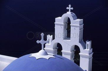 Kirche  Firostefani  Santorin  Kykladen  Griechenland