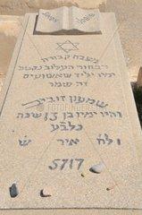 Grabstein mit Davidstern  alter Judenfriedhof in Marrakesch  Marokko  Afrika