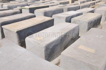 alter Judenfriedhof in Marrakesch  Marokko  Afrika
