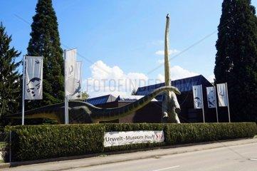 Urweltmuseum-Hauff  Hozmaden  Baden-Wuerttemberg  Deutschland  Dinosaurier