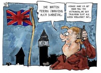 Merkel bei der Queen