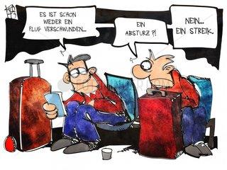 Flughafen-Streik