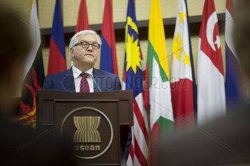 Bundesaussenminister Frank-Walter Steinmeier  SPD in Jakarta