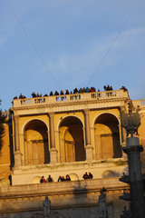 Pincio Terrasse in der Abendsonne