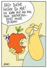 Apfel mit Beilage