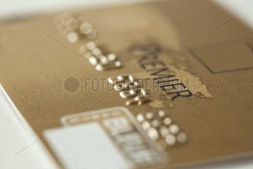 Close-up of credit card