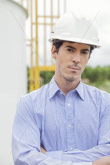 Engineer at oil refinery  portrait