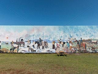 Wandbild der Geschichte amerikanischer Indianer