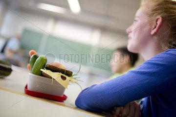 Gesundes Pausenbrot in der Schule