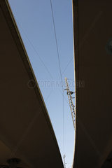 Stromleitung eine Bahn