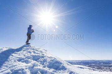Schneeschuhwanderung auf den Staedjan