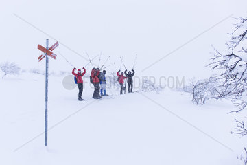Back-Country-Tour mit Langlaufskier durch Schweden