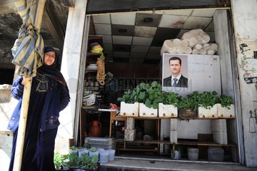 SYRIA-DAMASCUS-WESTERN COUNTRYSIDE-REBEL-FREE TOWNS-LIFE