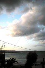 Sonnenaufgang Meer Wolken Strand