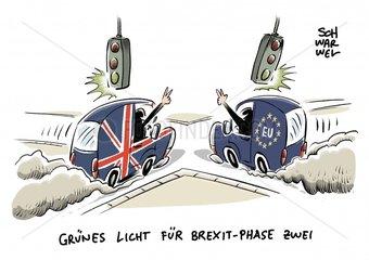 EU-Gipfel in Bruessel : Gruenes Licht fuer Brexit-Phase zwei