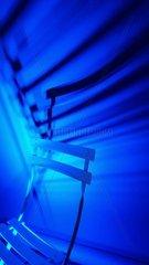 Stuhl Blaulicht Licht blau