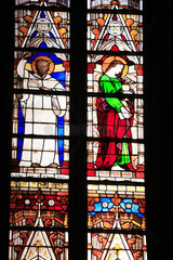 France  Haute Garonne  Toulouse  les vitraux de la Cathédrale Saint Etienne