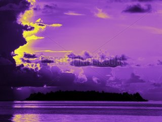 Sonnenuntergang lila