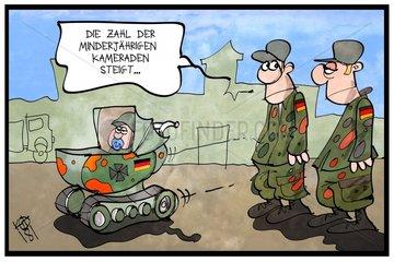 Minderjaehrige bei der Bundeswehr