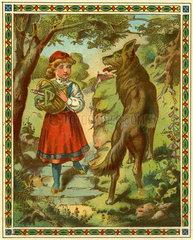 Rotkaeppchen und der boese Wolf  Illustration  1895
