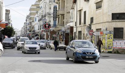Stadtverkehr in Tunis  Hauptstadt von Tunesien