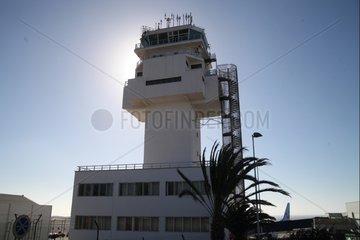 Tower am Flughafen Teneriffa-Sued