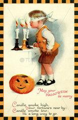 Glueckwuenschkarte zu Halloween  USA  1927