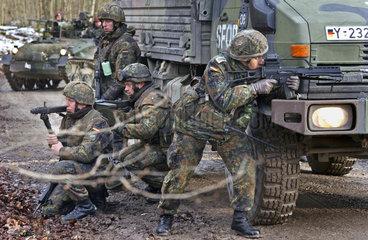 Bundeswehr-Uebung  Vorbereitung Afghanistan-Einsatz  2002