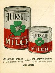 Gluecksklee Werbung  Angebot  Bestellkarte  1938