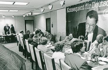 CSU Vorstand mit Franz Josef Strauss  1987