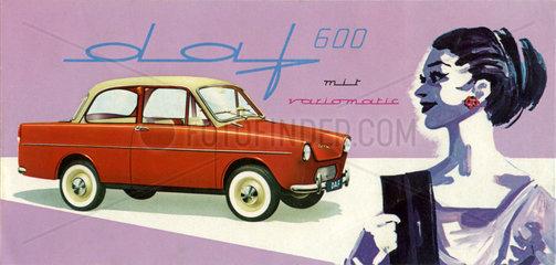 daf 600  Autowerbung  1959