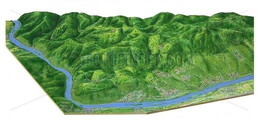 Karte Weinanbaugebiete Rhein