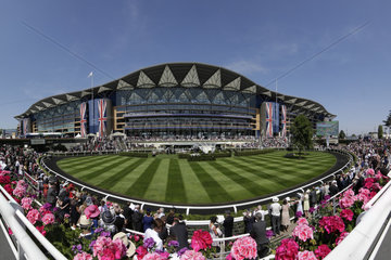 Royal Ascot  view at the parade ring in front of the grandstand