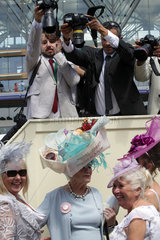 Royal Ascot  Fashion on Ladies Day  photographers have a focus on women with hats