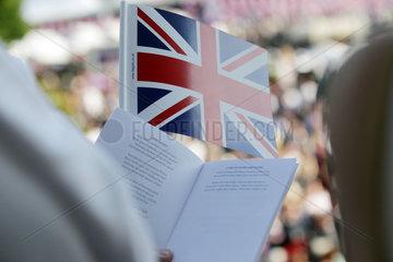 Royal Ascot  National flag and song book