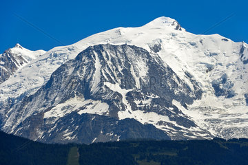 Mont Blanc Gipfel  Normalroute von der Nordwestflanke  Saint-Gervais-les-Bains  Frankreich