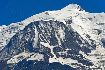 Mont Blanc Gipfel  Saint-Gervais-les-Bains  Hochsavoyen  Frankreich